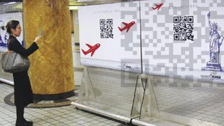 QR codes used in a Billboard in Tokyo by Ogilvy Japan